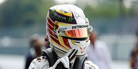 Lewis Hamilton captured the pole in Italy on Saturday.