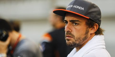 Fernando Alonso will compete in the Indianapolis 500 next month but continues to dismiss Le Mans rumors.