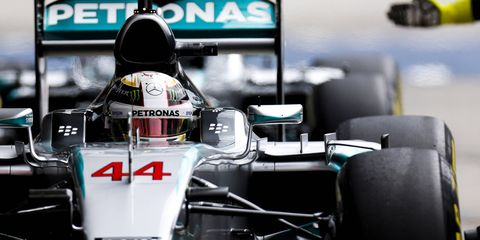 """One of the problems with Formula One today, says boss Bernie Ecclestone, is that when Lewis Hamilton (above) is on the pole, everyone knows he's going to win the race """"by 20 seconds."""""""