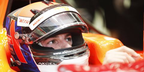 Alexander Rossi is getting his first Formula One start this weekend in Singapore.