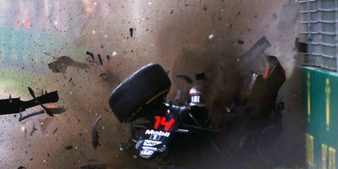 Fernando Alonso's crash in Australia was a little bit of the showbiz that people like, says F1 boss Bernie Ecclestone.