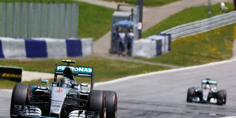 Nico Rosberg, left, will hope to make up more ground on Formula One points leader Lewis Hamilton, right, on Sunday.