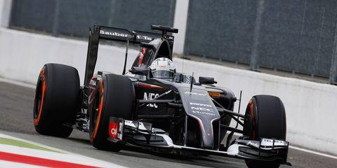 Giedo van der Garde test drives a Sauber F1 car last year at Monza.
