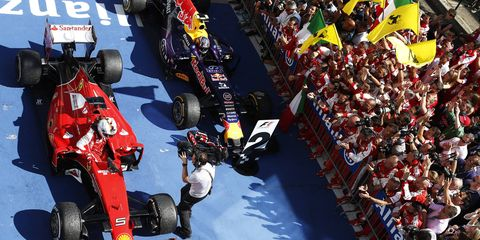 Ferrari's Sebastian Vettel says his team is on track with catching up with Mercedes.