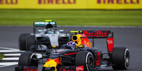 According to Bernie Ecclestone, Red Bull is Mercedes' biggest F1 rival, not Ferrari.