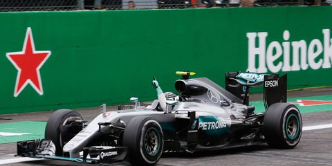 Nico Rosberg cruised to a victory in Italy by more than 15 seconds over teammate Lewis Hamilton on Sunday.