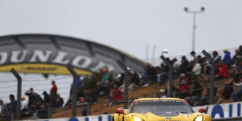 The Corvette team of Oliver Gavin, Tommy Milner and Jordan Taylor won the GTE Pro class at Le Mans.