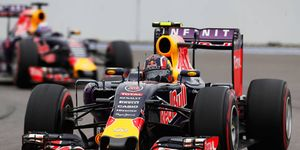 Red Bull Racing does not have a victory in the 2015 F1 season.