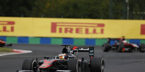 According to a report, Stoffel Vandoorne, shown racing this year in GP2, will replace Jenson Button at Williams F1 in 2016.