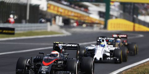 Jenson Button, shown racing in Hungary last week, agrees with former F1 driver Juan Pablo Montoya on one way to fix Formula One.