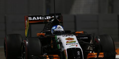 Jolyon Palmer, shown testing for Force India, has been named the third driver for Lotus Formula One.
