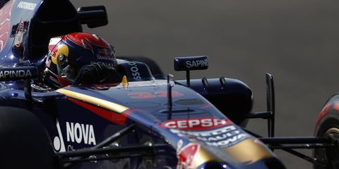 Max Verstappen, shown testing in Abu Dhabi, is Formula One's youngest driver ever. He's just 17.