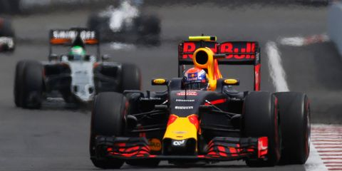 Red Bull Racing's Max Verstappen lost a podium finish in Mexico after he was penalized for changing his line under braking.