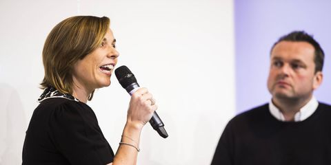 Williams Martini Racing deputy principle Claire Williams during her interview at the Autosport International Show.