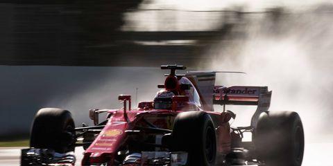 Kimi Raikkonen paced the Formula 1 test field on Thursday. It marked the second time in three days in which Raikkonen was quickest.
