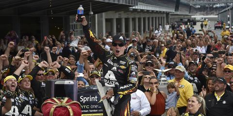 Jeff Gordon won the NASCAR Sprint Cup race at Indianapolis on Sunday. He is now the only driver in any series to win five races at the IMS oval.