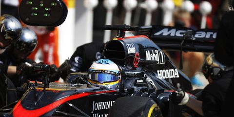 McLaren's Fernando Alonso (above) has been plagued by slow paces and awful finishes all season. McLaren chief Ron Dennis said he thinks the team is on the verge of a breakthrough.