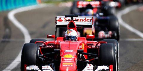 Sebastian Vettel races to his second win of the season for Ferrari on Sunday in Hungary.
