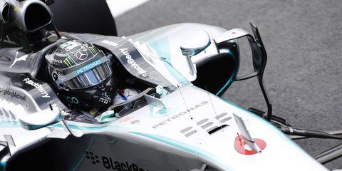 Nico Rosberg outlasted Mercedes teammate Lewis Hamilton on Sunday in Brazil.