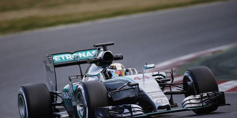 Lewis Hamilton was the fastest car in F1 testing at Barcelona