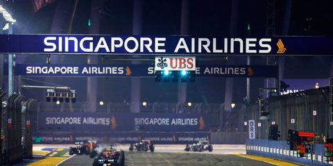 Haze conditions in Singapore have officials concerned enough that there will be first-aid stations on the ready for this weekend's F1 race.