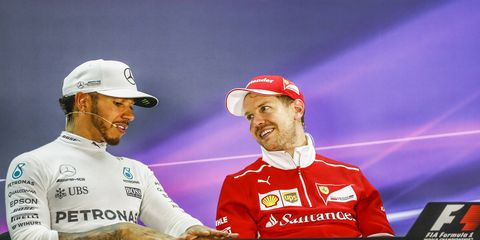 The F1 championship battle this year appears to be set between Lewis Hamilton and Sebastian Vettel.