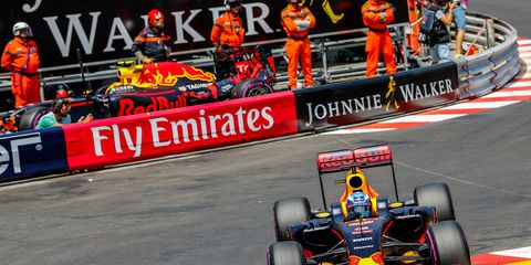 Daniel Ricciardo took the pole for Sunday's Formula One race at Monaco.
