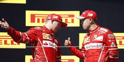Sebastian Vettel and Kimi Raikkonen are close friends off the racetrack.
