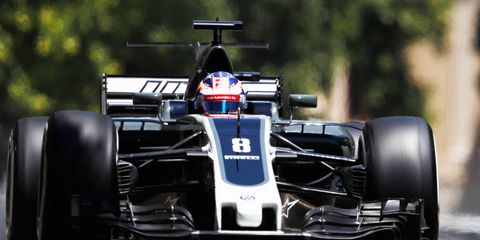 Haas F1 driver Romain Grosjean finished one lap off the pace in Azerbaijan.