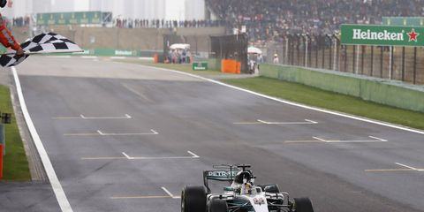 Lewis Hamilton swept the weekend, winning the pole, leading the most laps and scoring the fastest lap Sunday.