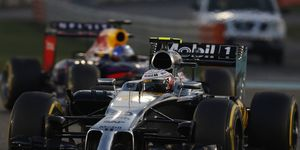 Kevin Magnussen, shown racing in 2014, won't be practicing on Friday's this season. His F1 career has been put on hold for 2015.