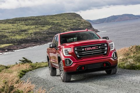 The off-road suspension setup on the GMC side of the fence is called AT4 but provides the same tires and lifted suspension as the Trail Boss Chevrolet
