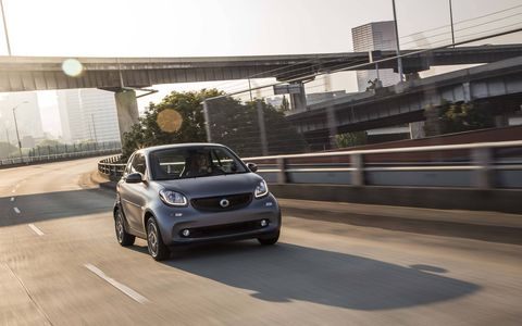 The redesigned Smart ForTwo minicar.