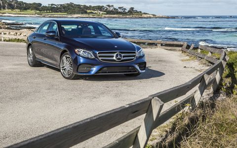 The 2017 Mercedes Benz E300 4Matic Sedan has a 2.0 liter turbocharged I4 producing 241 hp and 273 lb-ft of torque.