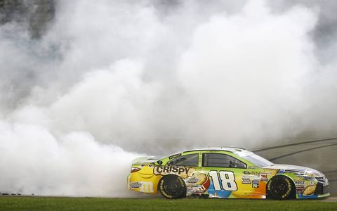Kyle Busch won his second race of the NASCAR Sprint Cup Series season on Saturday night at Kentucky Speedway.