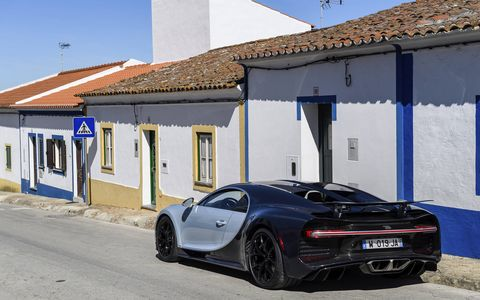 """When we first started this project, we would write 'plus 25 percent' on each page we sketched to keep the directive in mind,"""" Frank Heyl, head of exterior design development production for the Chiron, tells us."""