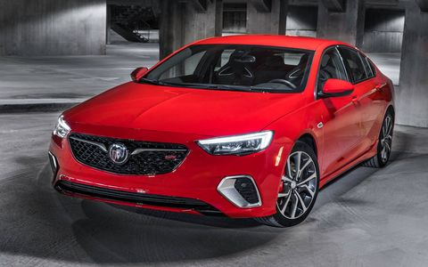 The 2018 Buick Regal GS gets a 310-hp, 282-lb-ft version of the company's 3.6-liter V6.