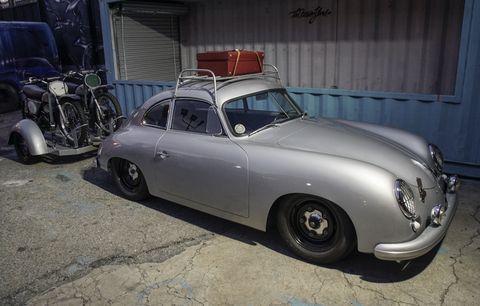 LA Porsche builder Rod Emory brought this 356 towing a pair of original Honda Elsinores.