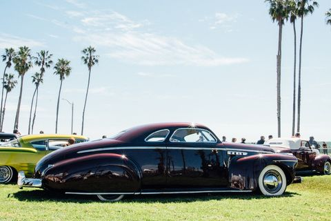 Customs by the Sea was a custom car show held next to the Santa Barbara Drags. Both were put on by The Race of Gentlemen.