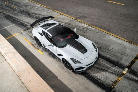 The 2019 Chevy Corvette ZR1gets from 212 mph to zero in 8.7 seconds.