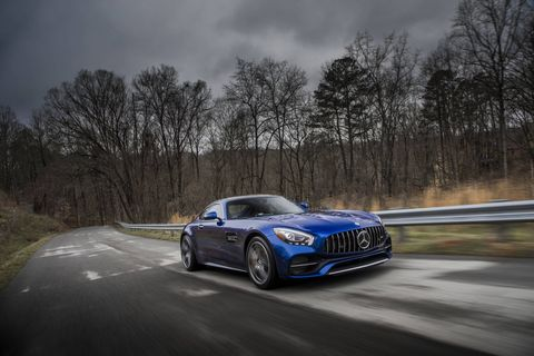 The 2018 Mercedes-AMG GT C Coupe comes with a 4.0-liter twin-turbocharged V8.