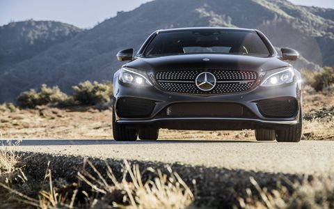The 2017 Mercedes-AMG C43 sedan comes with a twin-turbocharged V6 making 362 hp and 384 lb-ft of torque.