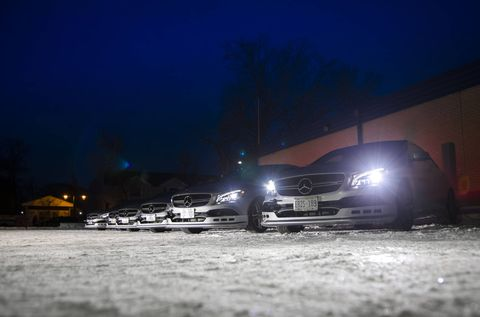 AMG Winter Sporting Drifting At Night
