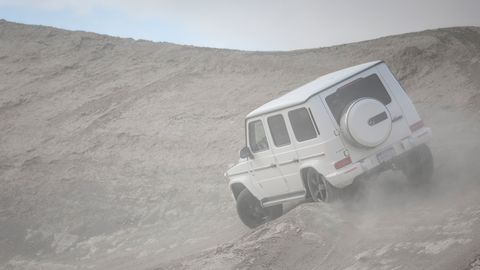 The 2019 Mercedes-Benz G550 comes with a 4.0-liter, twin-turbocharged V8 making 416 hp.