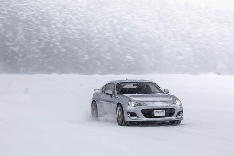 Sliding BRZ's around a frozen over Dollar Lake at the Subaru Winter Experience