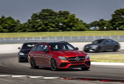 The 2018 Mercedes-AMG E63S wagon comes with a 603-hp, 4.0-liter twin-turbocharged V8.