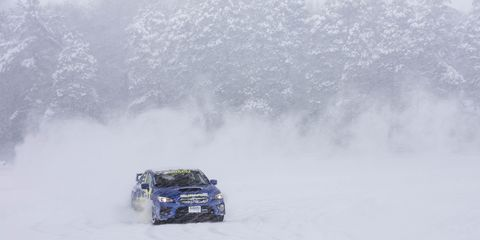 Getting AWD drifty in Subaru WRX STI's at the Subaru Winter Experience