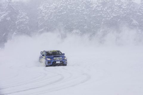 Getting AWD drifty in Subaru WRX STI's at the Subaru Winter Experience