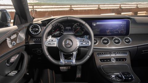 The 2019 Mercedes-AMG CLS53 has an opulent interior.