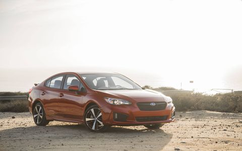 It's no WRX but the Impreza Sport is the sportiest of the Impreza line, with progressive dampers, torque vectoring awd and 18-inch wheels with grippier tires.